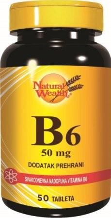 B6 vitamin 50 tableta Natural Wealth