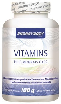 Energybody Vitamins plus minerals 120 kapsula