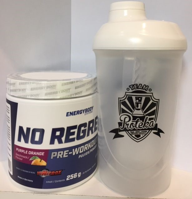 NO Regrets 320g + Team Proteka Shaker
