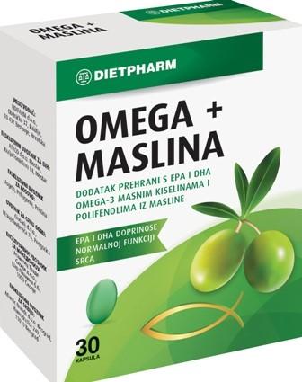 OMEGA + MASLINA kapsule Dietpharm