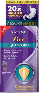 ZINC High Absorption 60 tableta za žvakanje